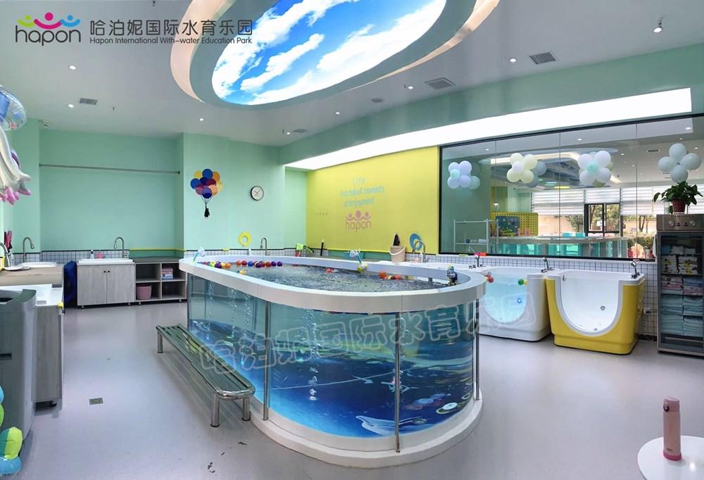店鋪配置中型兒童游泳池實景展示