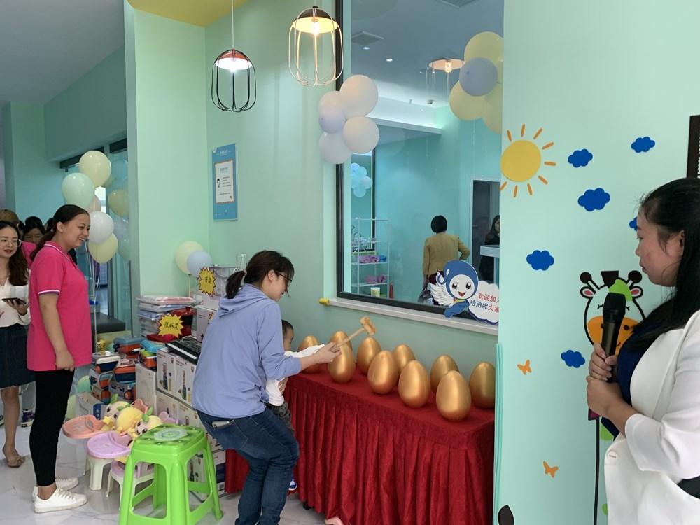 婴儿游泳馆加盟店铺互动活动
